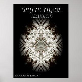 WHITE TIGER: ILLUSION (Large Print) Poster