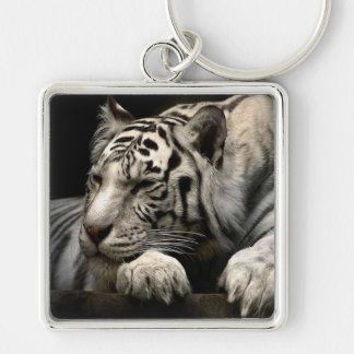 White Tiger Key Ring