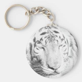 White Tiger Keychains