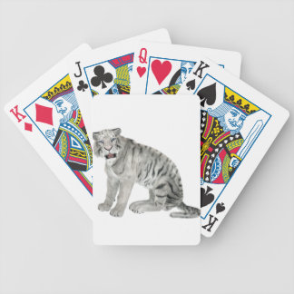 White Tiger Looking to the Front Poker Deck
