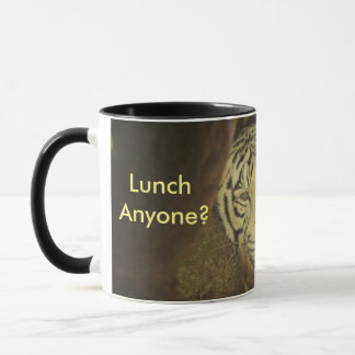 White Tiger Lunch Mug Custom