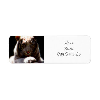 White Tiger Mirage Return Address Label