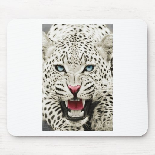 white tiger mouse pads