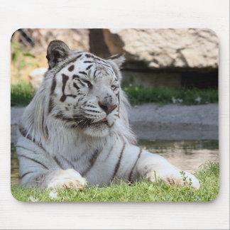 White Tiger Mousepad Mouse Pad