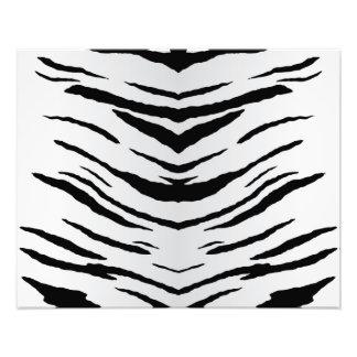 White Tiger or Zebra Striped Photo Art