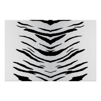 White Tiger or Zebra Striped Poster