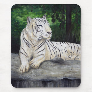 White Tiger painting by Ben Jones Mouse Pad
