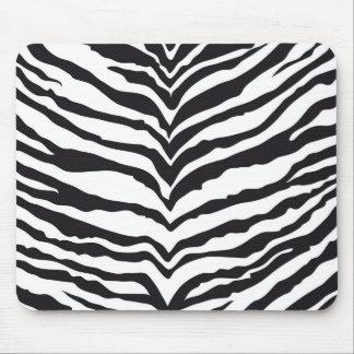 White Tiger Print Mousepad