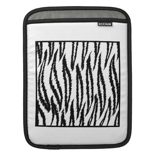 White Tiger Print. Tiger Pattern. iPad Sleeve