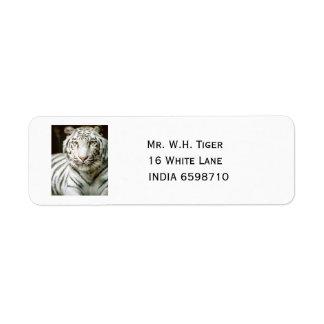 White Tiger Return Address Label