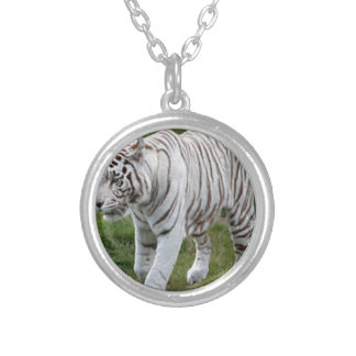 White Tiger Silver Plated Necklace