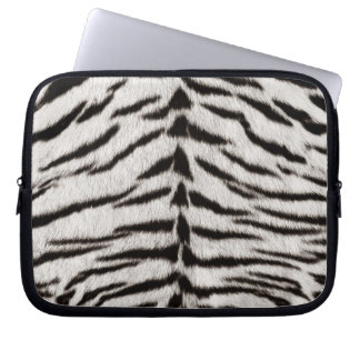 White Tiger Skin Print laptop sleeve