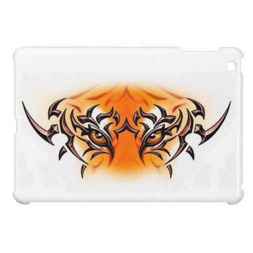 white-tiger-tattoo-color-eyes-face iPad mini case
