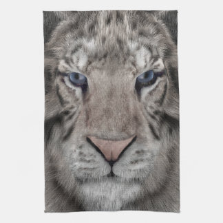 White Tiger Tea Towel