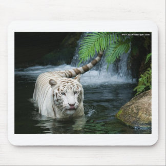 White Tiger Water Mouse Pad