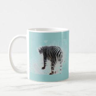 White Tiger wild animal Coffee Mugs