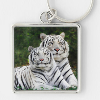 White Tigers Key Ring