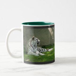 White Tigers Two-Tone Coffee Mug