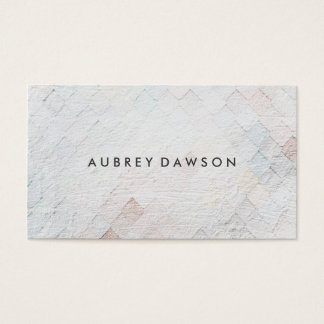 White Tile Grunge Pattern Business Card