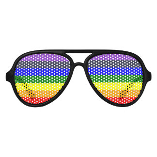 White To Black Rainbow of Color Spaces Aviator Sunglasses