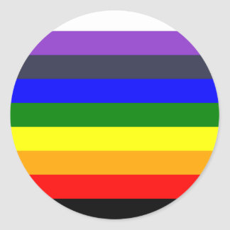 White To Black Rainbow of Color Spaces Classic Round Sticker