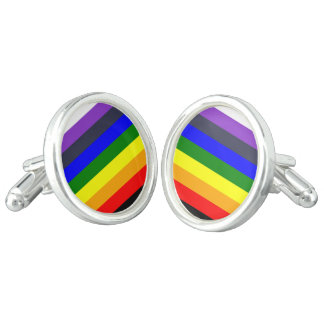 White To Black Rainbow of Color Spaces Cufflinks
