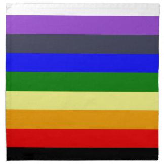 White To Black Rainbow of Color Spaces Napkin