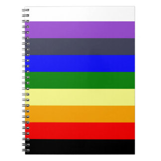 White To Black Rainbow of Color Spaces Notebooks