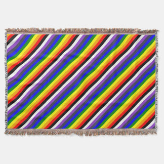 White To Black Rainbow of Color Spaces Throw Blanket