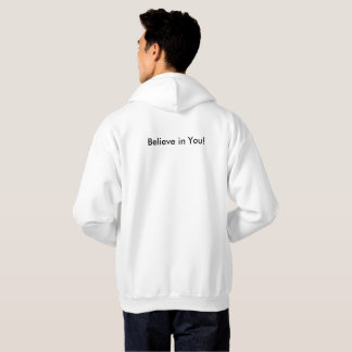 White to sweter Believe Hoodie