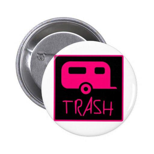 White Trailer Park Trash Poor Dumb Redneck Pin