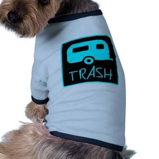 White Trailer Park Trash Poor Dumb Redneck Pet Clothing