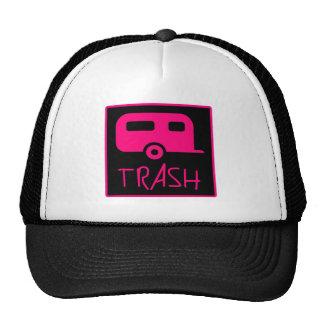 White Trailer Park Trash Poor Dumb Redneck Trucker Hat