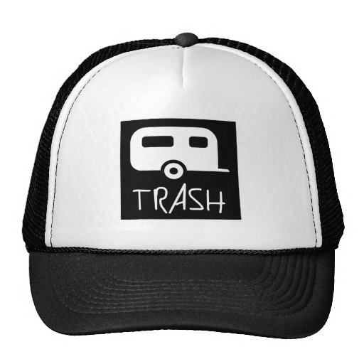 White Trailer Park Trash Poor Dumb Redneck Mesh Hats