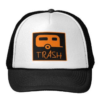 White Trailer Park Trash Poor Dumb Redneck Trucker Hats