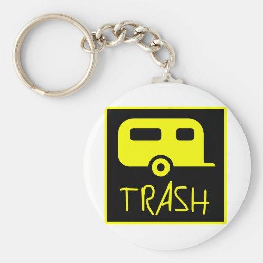 White Trailer Park Trash Poor Dumb Redneck Keychains