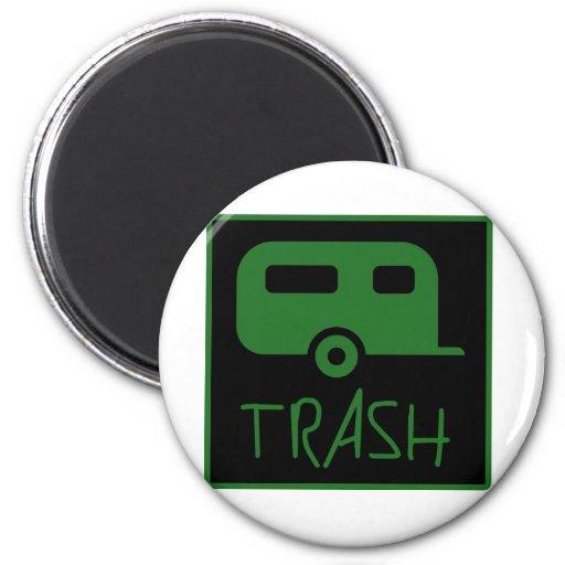White Trailer Park Trash Poor Dumb Redneck Refrigerator Magnet