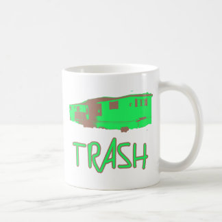 White Trailer Park Trash Poor Dumb Redneck Coffee Mugs