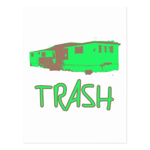 White Trailer Park Trash Poor Dumb Redneck Post Cards