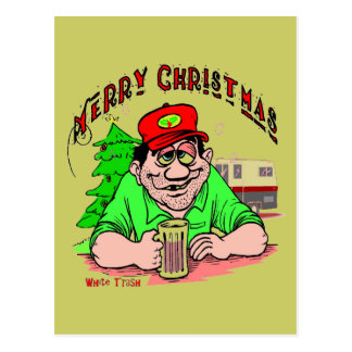 White Trash Christmas Postcard