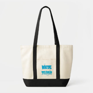 white trash graffiti design tote bag