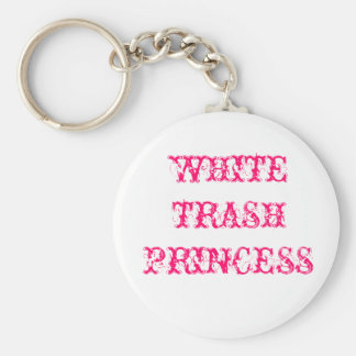 WHITE TRASH PRINCESS KEY RING