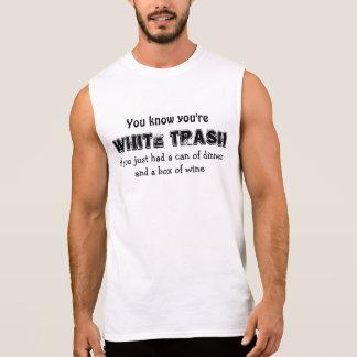 WHITE TRASH SLEEVELESS SHIRT