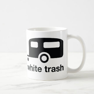 White Trash trailer icon - trailer park Mug