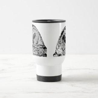 White Travel mug - Two Owl Images