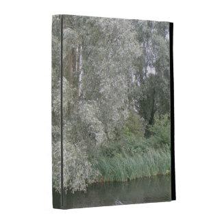 White Tree and River Landscape iPad Case