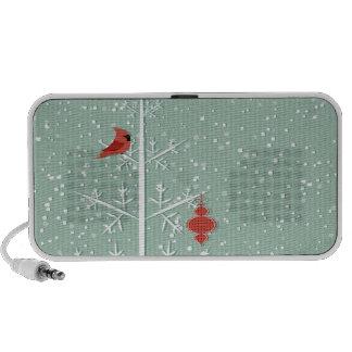 White Tree Doodle Portable Speaker