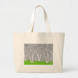 White Trees Design on Jumbo Tote Bag