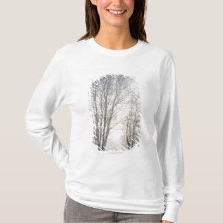 White Trees on a Snowy Day T-Shirt