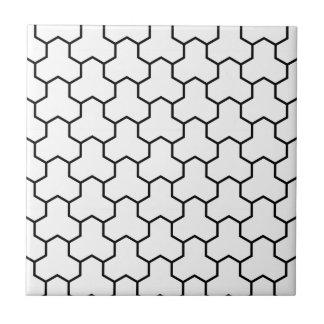 White Tri-Hex Tile